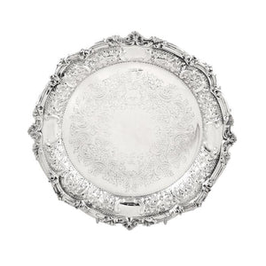 Antique Edwardian Sterling Silver 9″ Plate / Dish 1902