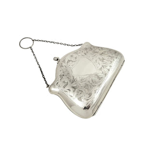 Antique Sterling Silver Purse 1917