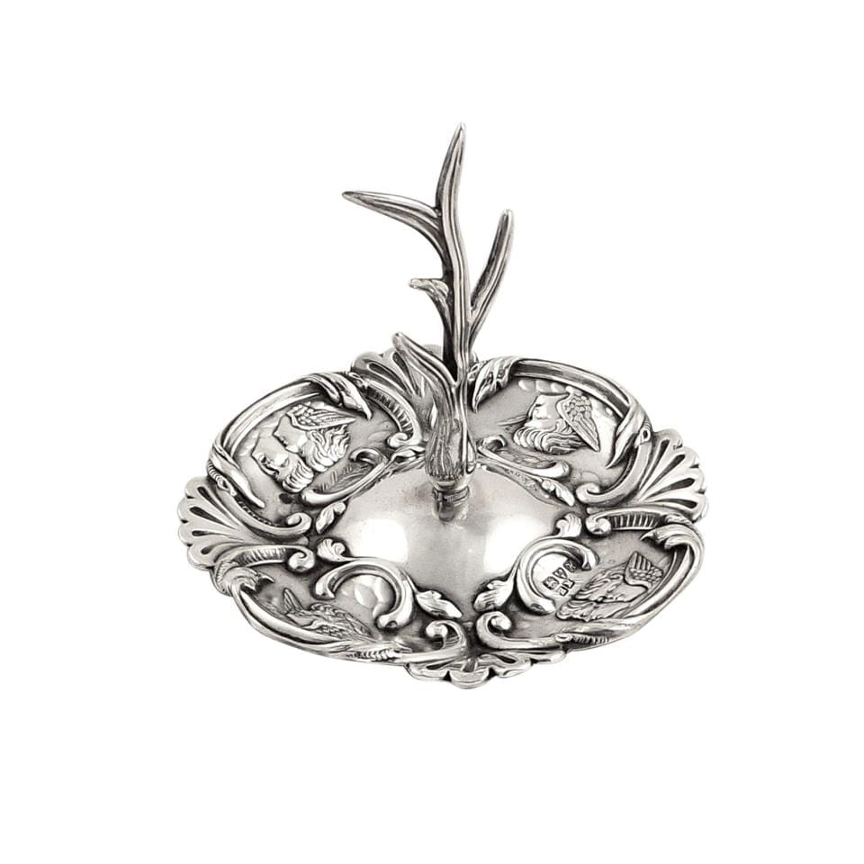 Antique Edwardian Sterling Silver 'Angels' Ring Tree 1908