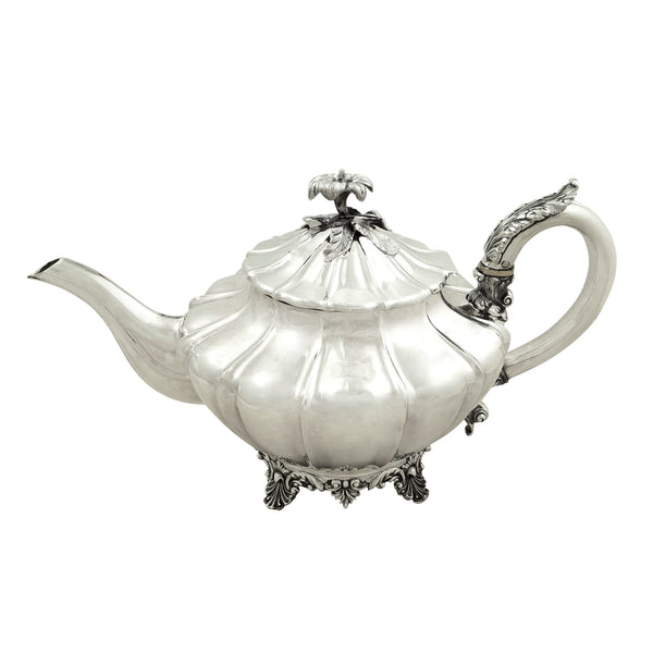 Antique William IV Sterling Silver Teapot 1833