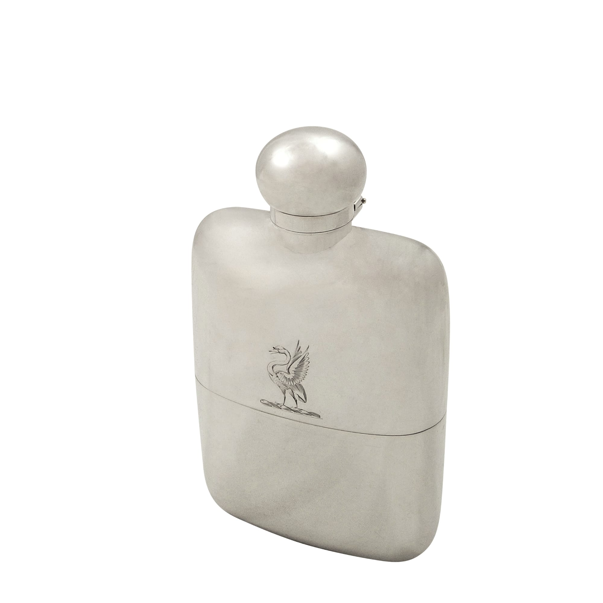 Antique Victorian Sterling Silver Hip Flask with Cup 1894 – Swan