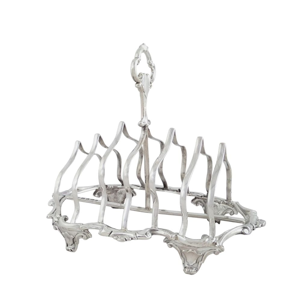 Antique Victorian Sterling Silver Toastrack 1854