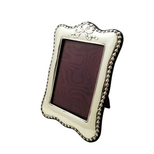 "Antique Edwardian Sterling Silver 8"" Photo Frame 1905"