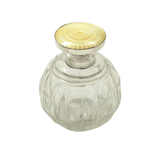 Antique Sterling Silver & Yellow Enamel Perfume / Scent Bottle 1922