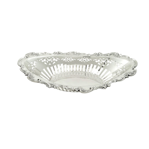 Antique Edwardian Sterling Silver 11″ Pierced Dish / Bowl 1904