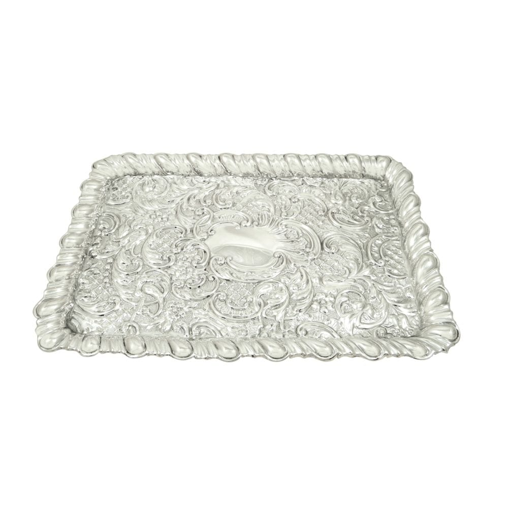 Antique Edwardian Sterling Silver Dressing Tray 1903