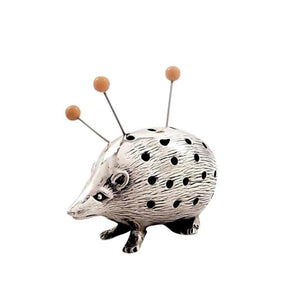Antique Edwardian Sterling Silver Hedgehog Pin Cushion – 1906