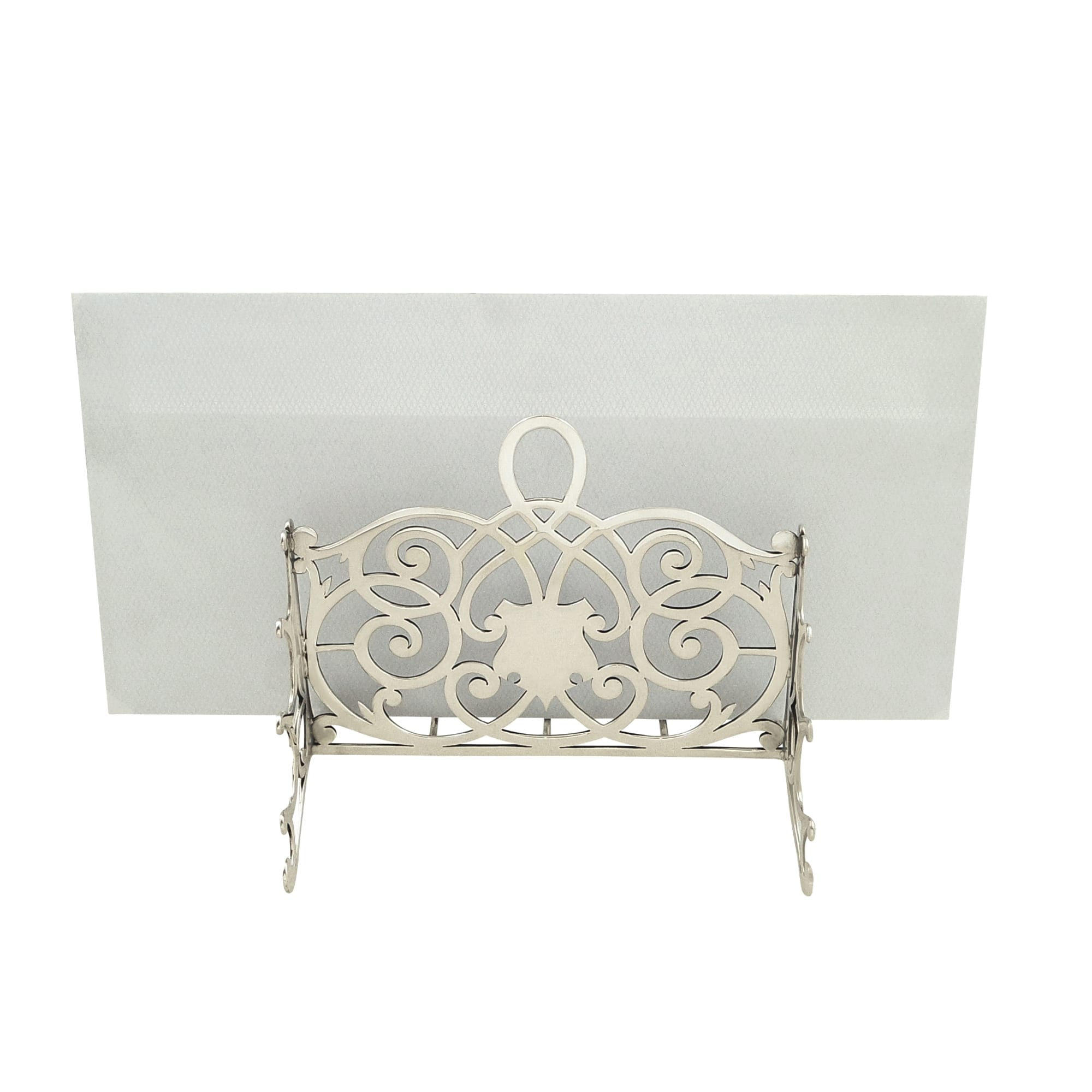 Antique Edwardian Sterling Silver Letter Rack 1904