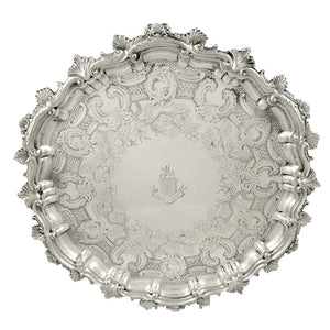 Antique Edwardian Sterling Silver Tray – 1902