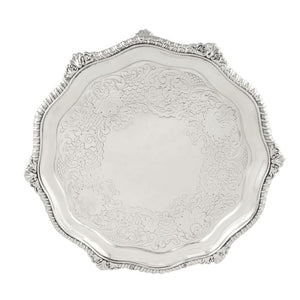 Antique Georgian Sterling Silver Tray 1820