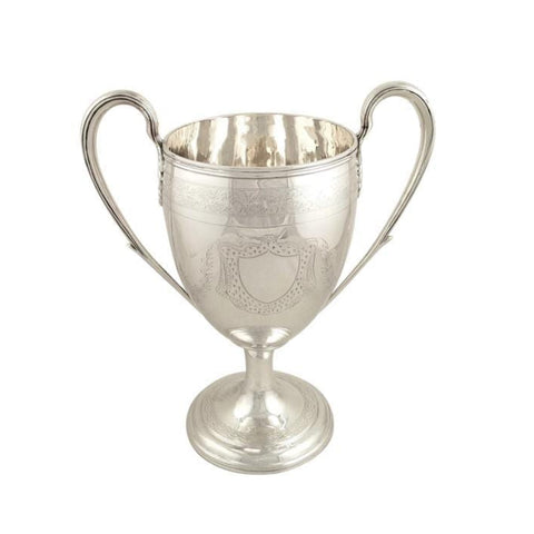 Antique Georgian Sterling Silver 9 1/2″ Trophy Cup – Newcastle 1803
