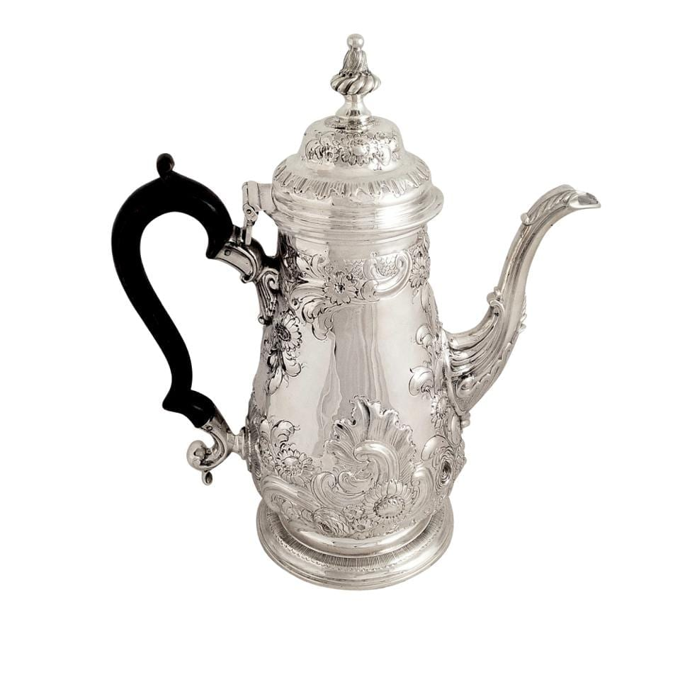 Antique Georgian Sterling Silver Coffee Pot 1768