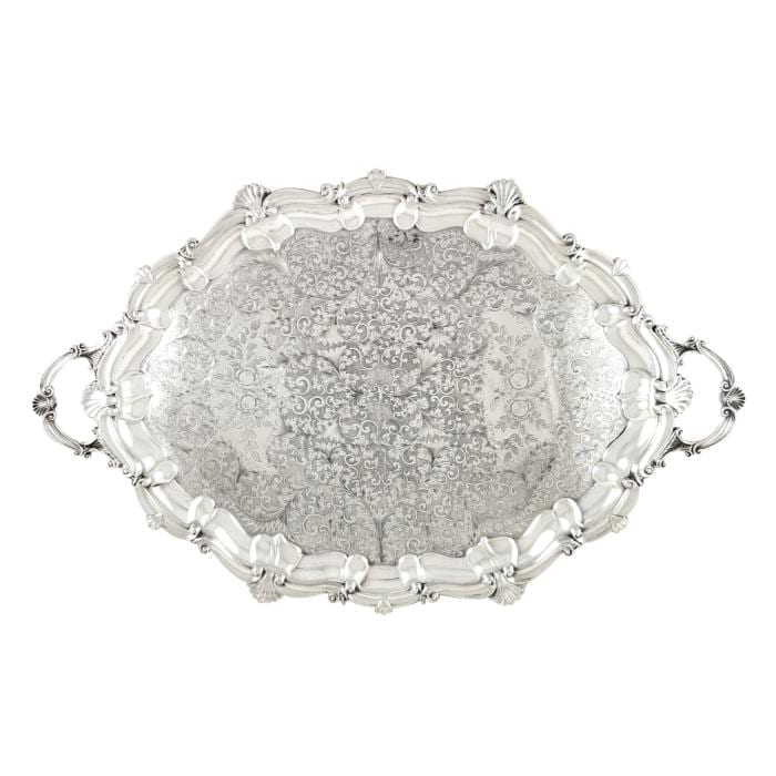 Antique Edwardian Sterling Silver 27″ Tray – 1907