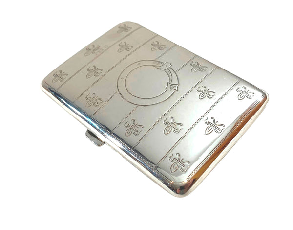 Antique Edwardian Sterling Silver Card Case / Aide Memoire 1910