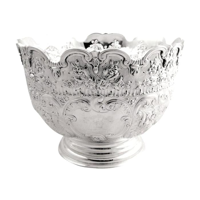 Victorian Sterling Silver Bowl on Pedestal Base with Crest – 1894