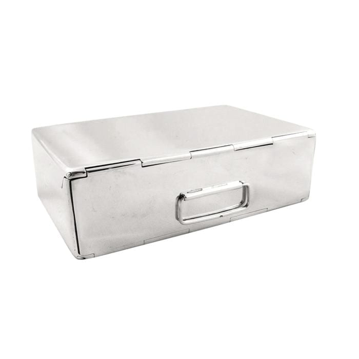 Antique Sterling Silver Sandwich Tin / Case – 1915