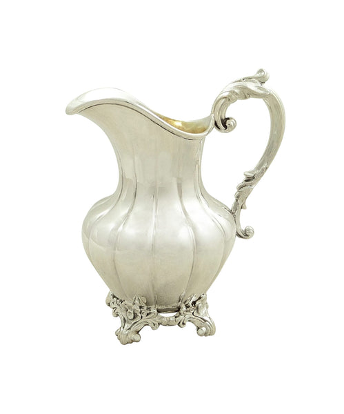 Antique Victorian Sterling Silver Jug 1885