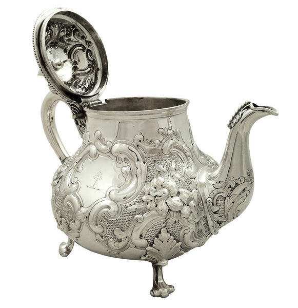 Antique Victorian Sterling Silver Teapot 1869