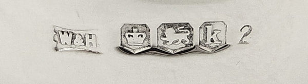 Set of 6 Antique Sterling Silver Napkin Rings in Case 1927