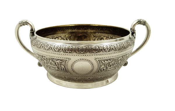 Antique Victorian Sterling Silver Jug & Bowl 1872