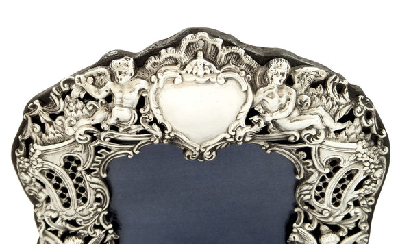 Antique Victorian Sterling Silver 8 1/2″ Photo Frame 1894