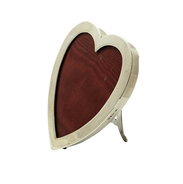 Antique Victorian Sterling Silver Heart Photo Frame 1893