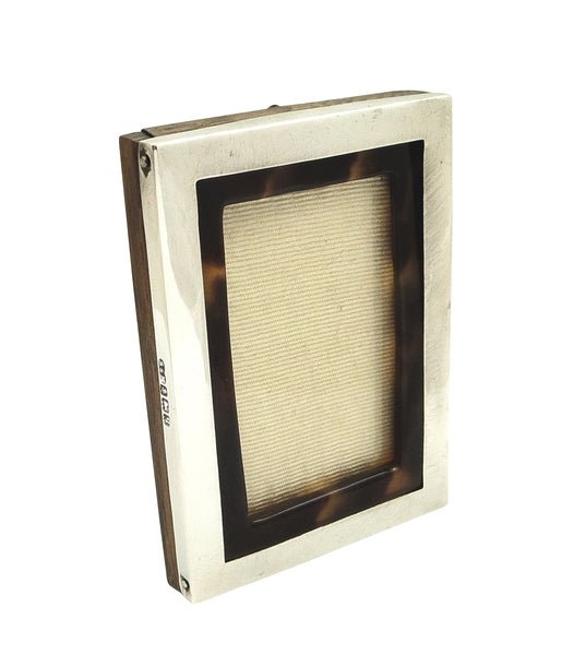 Antique Sterling Silver & Tortoiseshell Photo Frame 1915