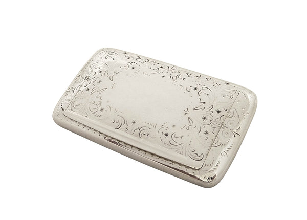 Antique Victorian Sterling Silver Snuff Box 1872