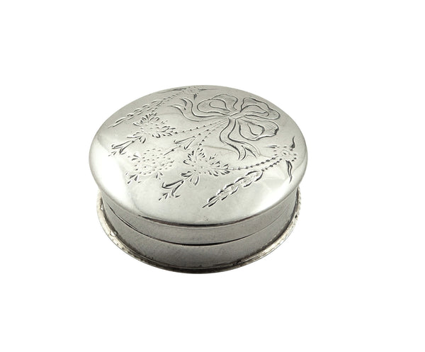 Antique Sterling Silver Pill Box 1912