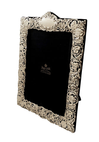 Antique Edwardian Sterling Silver 11 1/2″ Photo Frame 1902