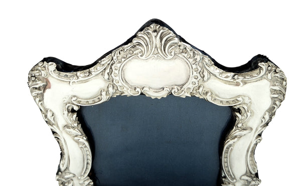 "Antique Edwardian Sterling Silver 8"" Photo Frame 1902"
