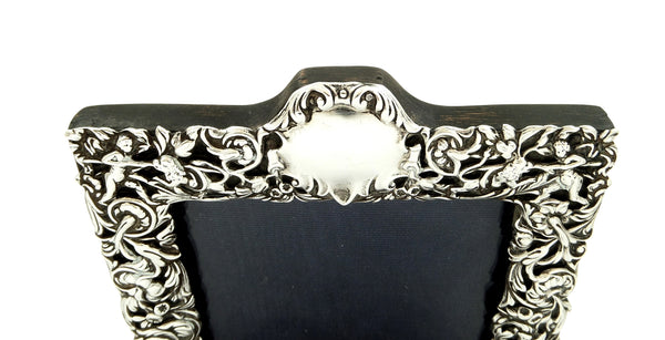 Antique Victorian Sterling Silver Photo Frame 1900