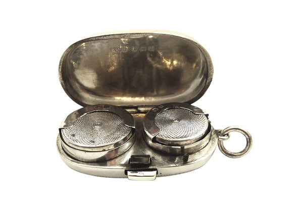 Antique Sterling Silver Double Sovereign Case 1915
