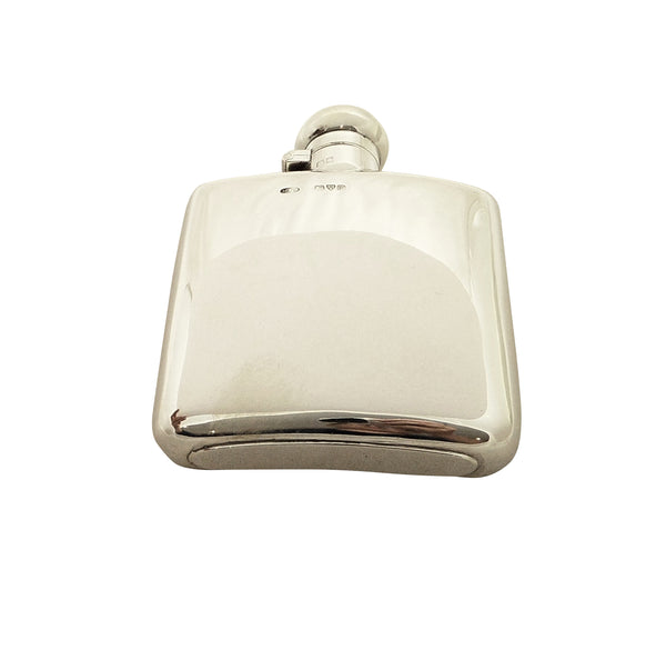 Antique Sterling Silver Hip Flask 1906