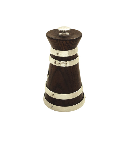 Antique Victorian Silver Plated & Oak Pepper Mill / Pot c1890