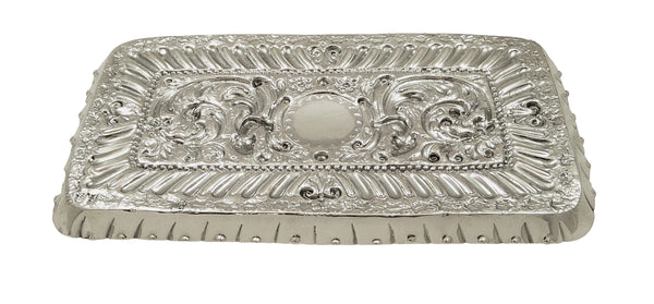 Antique Victorian Sterling Silver Dressing Tray 1895