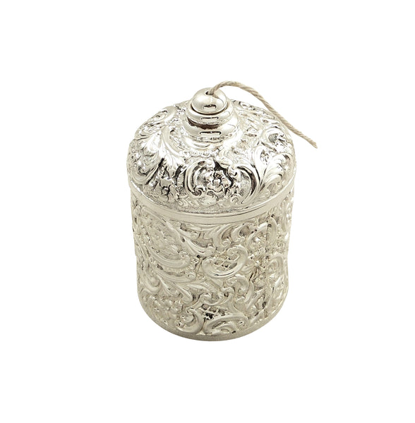 Antique Victorian Sterling Silver String Box / Holder 1900