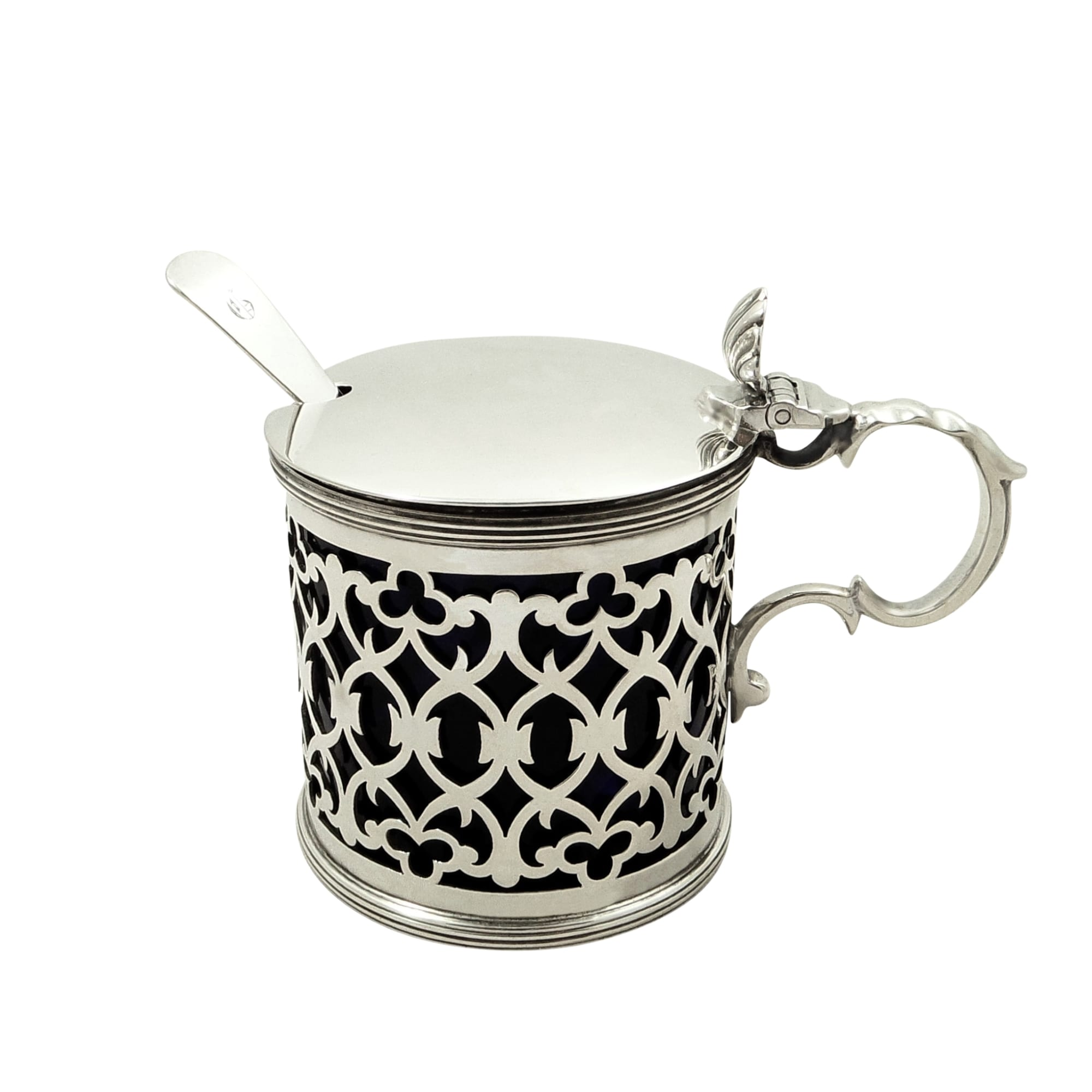 Antique Victorian Sterling Silver Mustard Pot 1899