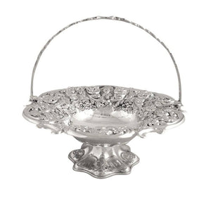 Antique Victorian Sterling Silver Cake / Bread Basket 1898