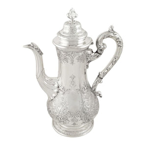 Antique Victorian Scottish Silver Coffee Pot – 1843