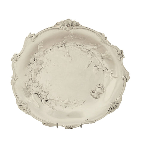 Antique Victorian Sterling Silver 9 1/2″ Thistle Dish – 1898