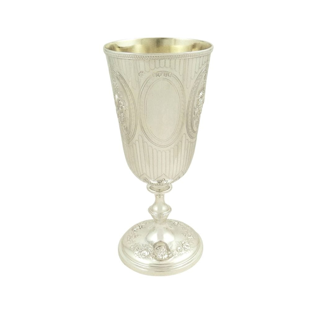 Antique Victorian Sterling Silver Wine Goblet 1869