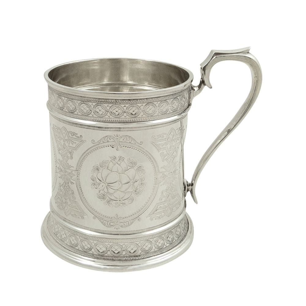 Antique Victorian Sterling Silver Mug / Tankard 1872