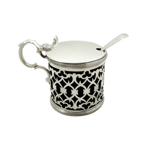 Antique Victorian Sterling Silver Mustard Pot 1896