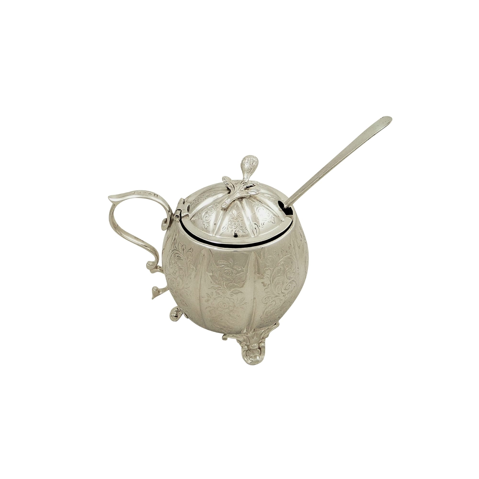 Antique Victorian Sterling Silver Mustard Pot 1855