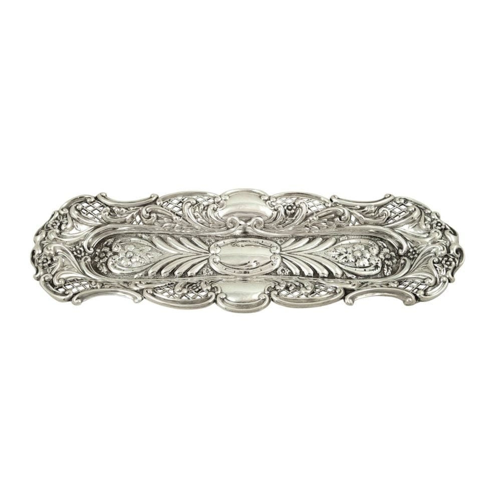 Antique Victorian Sterling Silver Pen Tray / Dish 1899