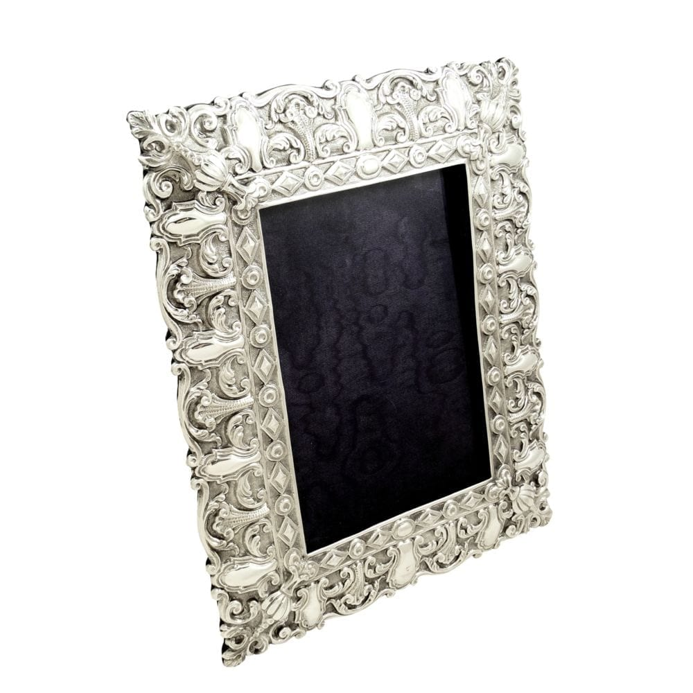 Large Antique Victorian Sterling Silver Photo Frame 1899