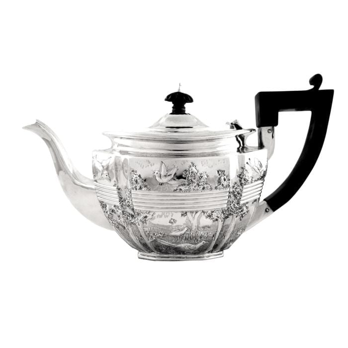 Victorian Sterling Silver Bachelor Teapot 1896