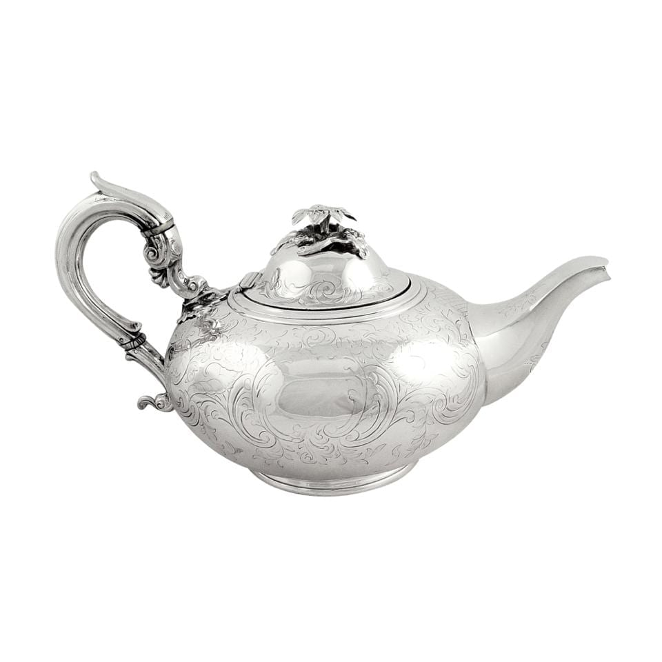 Antique Victorian Sterling Silver Teapot 1862
