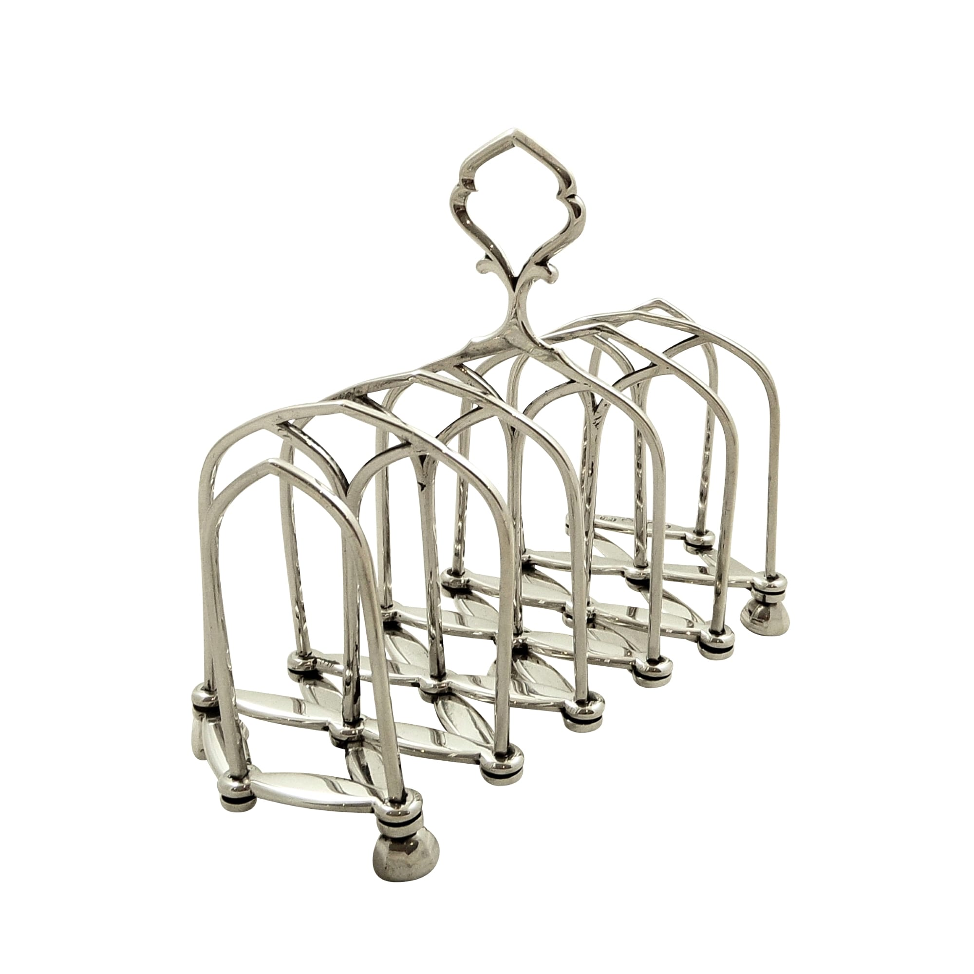 Unusual Antique Victorian Sterling Silver Expanding Toast Rack 1880